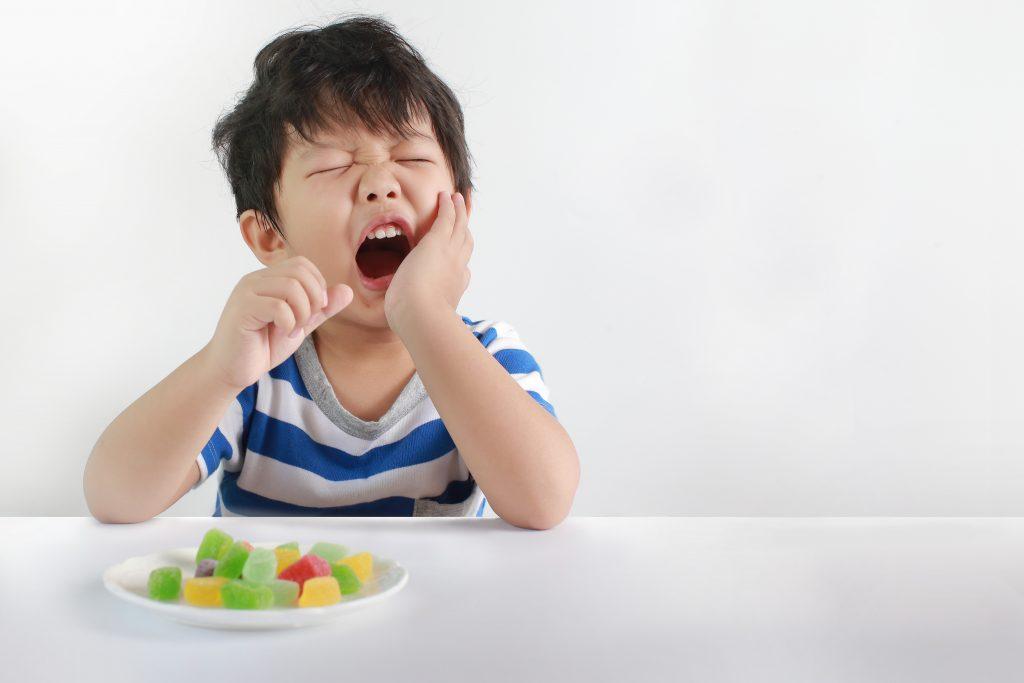 child with cavity